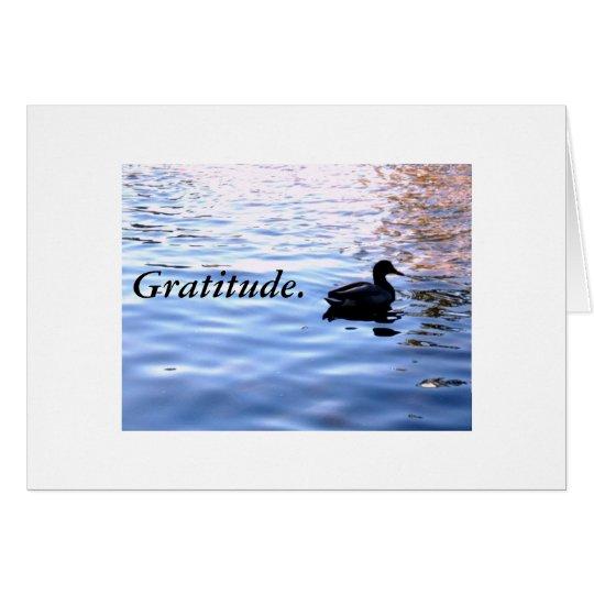 Gratitude. Card