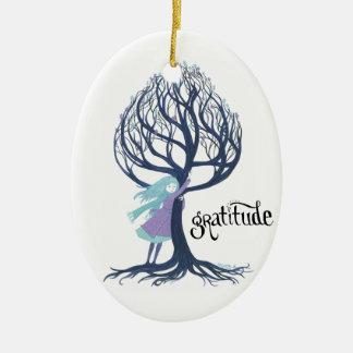 """""""Gratitude"""" Christmas Ornament"""