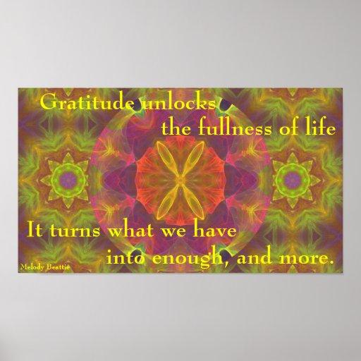 """Gratitude ...Enough and More"" Poster"