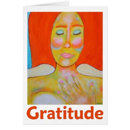 """Gratitude"" Fine Art Holiday Thanksgiving Greeting Card"