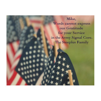 Gratitude for your Service Wood Print