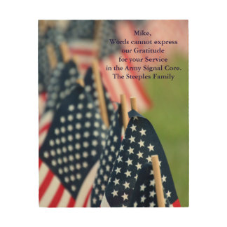 Gratitude for your Service Wood Wall Art