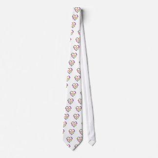 Gratitude Heart Colorful Tie