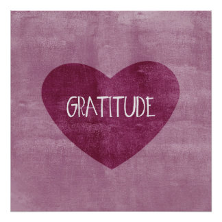 Gratitude Heart Posters