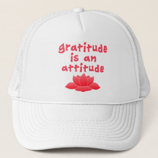 Gratitude is an Attitude with Lotus Trucker Hat