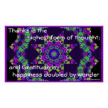 """""""Gratitude is Happiness Doubled"""" Poster"""
