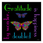 Gratitude is Happiness Doubled. Poster.2
