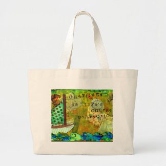 Gratitude is Life's Course Correction Large Tote Bag