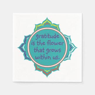 Gratitude is the Flower Paper Napkin