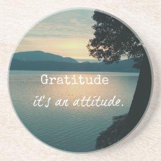 Gratitude: It's an Attitude Quote Coaster