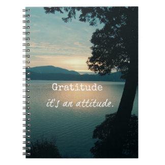Gratitude: It's an Attitude Quote Spiral Notebook