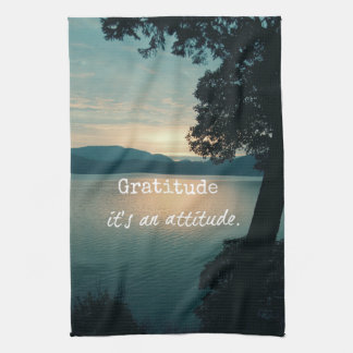 Gratitude: It's an Attitude Quote Towel