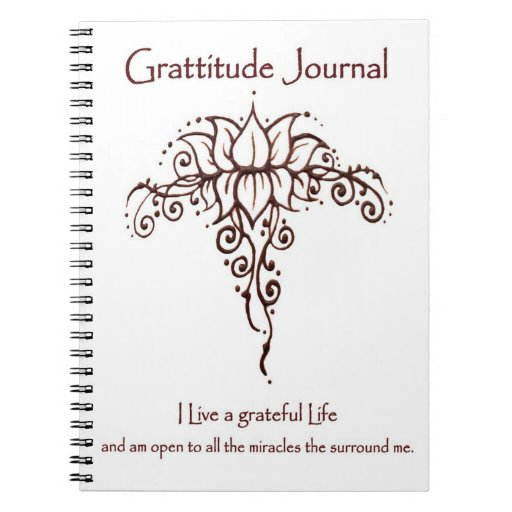 Gratitude Journal Original Henna Lotus Design Note Books