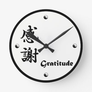 Gratitude Kanji Clock