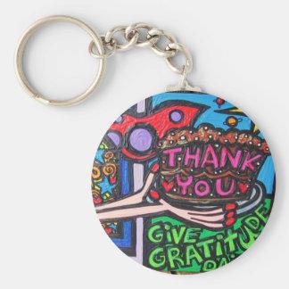 gratitude keychain