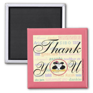 Gratitude means the same in any language 2 inch square magnet