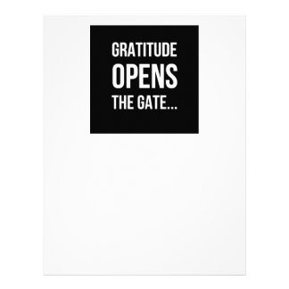 Gratitude Opens The Gate inspirational quote Letterhead