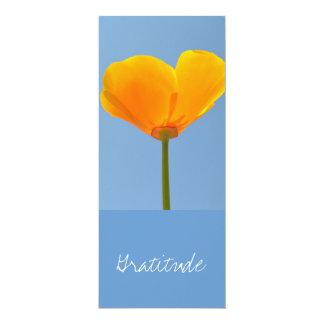 Gratitude Poppy Bookmark 4x9.25 Paper Invitation Card