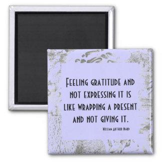 gratitude present 2 inch square magnet