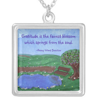 Gratitude Reflection Original Art Pendant