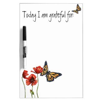 Gratitude Reminder List for Your Fridge Dry-Erase Board