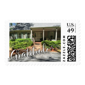 Gratitude Script w/ Your Cozy House Photo Postage