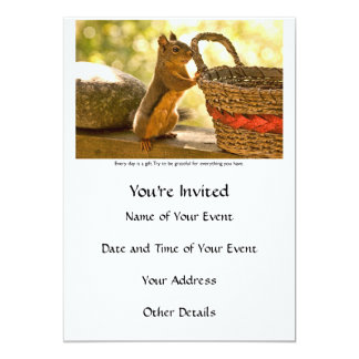 Gratitude Squirrel Card