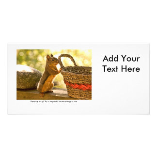 Gratitude Squirrel Photo Greeting Card