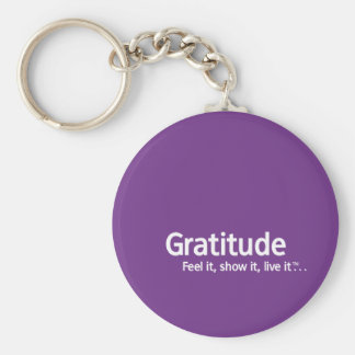Gratitude - Thought Shapers™ Basic Round Button Keychain
