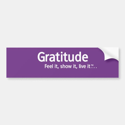 Gratitude - Thought Shapers™ Bumper Sticker