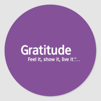 Gratitude - Thought Shapers™ Classic Round Sticker