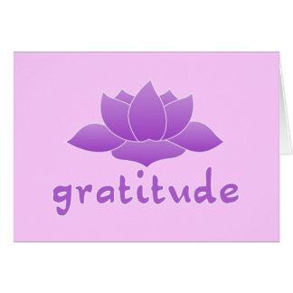 Gratitude with Violet Lotus Card