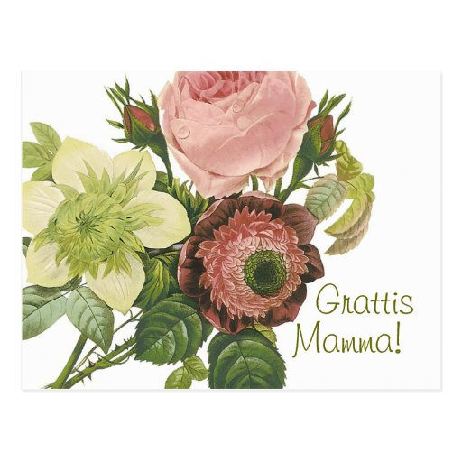 Grattis Mamma CC0130 Postcard Post Card