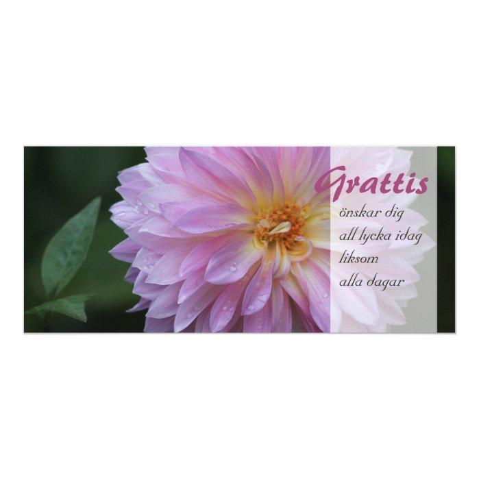 Grattis Önskar dig all lycka idag CC0767 4x9.25 Paper Invitation Card