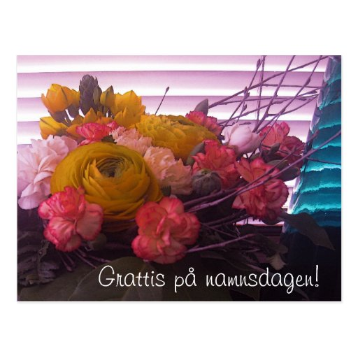 blommor på p