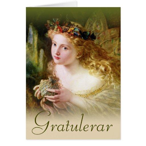 Gratulationskort med fedrottning CC0484 Card