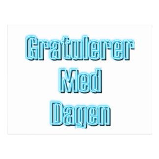Gratulerer Med Dagen Postcard