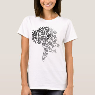 Grau Verlauf Doggenkopf T-Shirt