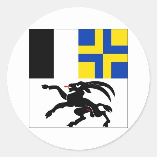 Graubuenden Flag Classic Round Sticker