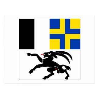 Graubuenden Flag Postcard