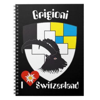 Graubünden, Grigioni, Grischun note booklet Notebook