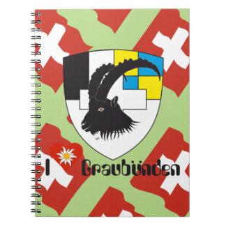 Graubünden, Grigioni, Grischun note booklet Note Books