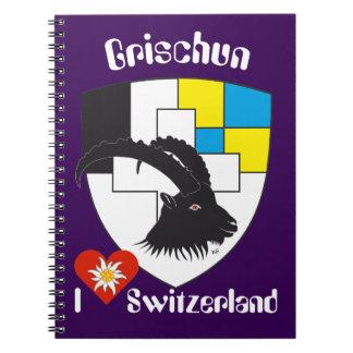 Graubünden, Grigioni, Grischun note booklet Notebooks