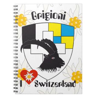 Graubünden, Grigioni, Grischun note booklet Note Book
