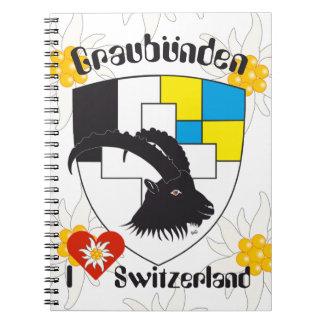 Graubünden, Grigioni, Grischun note booklet Spiral Notebooks