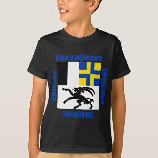 Graubunden Switzerland Canton Flag T-Shirt