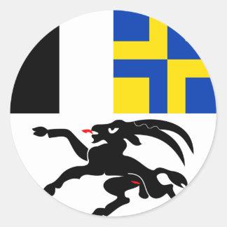Graubunden, Switzerland flag Classic Round Sticker