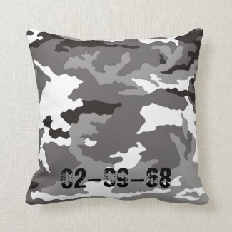 Graues Camouflage Muster Kissen