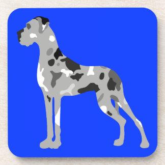 Grautiger Doggensilhouette Coaster