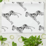 "Grautiger Doggensilhouette Hand Towel<br><div class=""desc"">Merle Great Dane Silhouette without more.  Grautiger Deutsche Dogge,  Great Dane in merle colors</div>"
